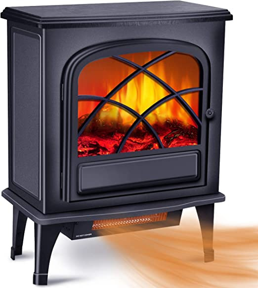 Amazon Com Infrared Fireplace Heater Electric Space Heater For
