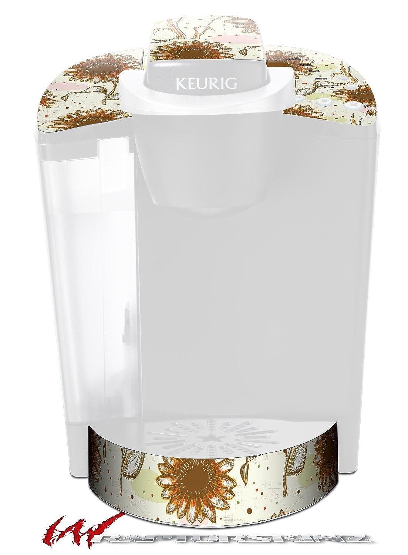 花パターン19 – デカールスタイルビニールスキンFits Keurig k40 Eliteコーヒーメーカー( Keurig Not Included )   B017AK8WYS