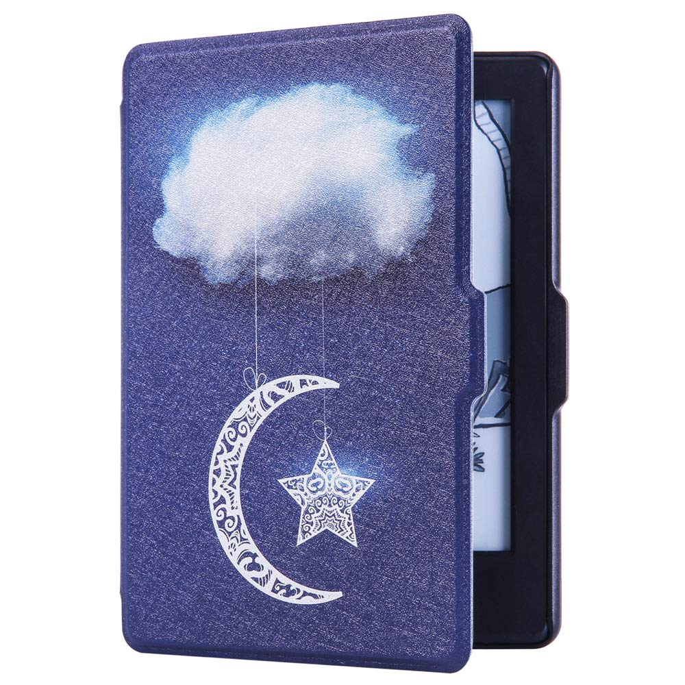 Huasiru Painting Case for Kindle 8th Generation 2016 (Dimensions 6.3 x 4.5 x 0.36 Inches) ONLY - Cover with Auto Wake/Sleep, Starry Clouds