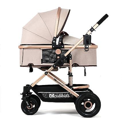 YBL baratas y ligeras sillas de paseo Bebé Caucho de cuatro ruedas De dos vías Reclinable