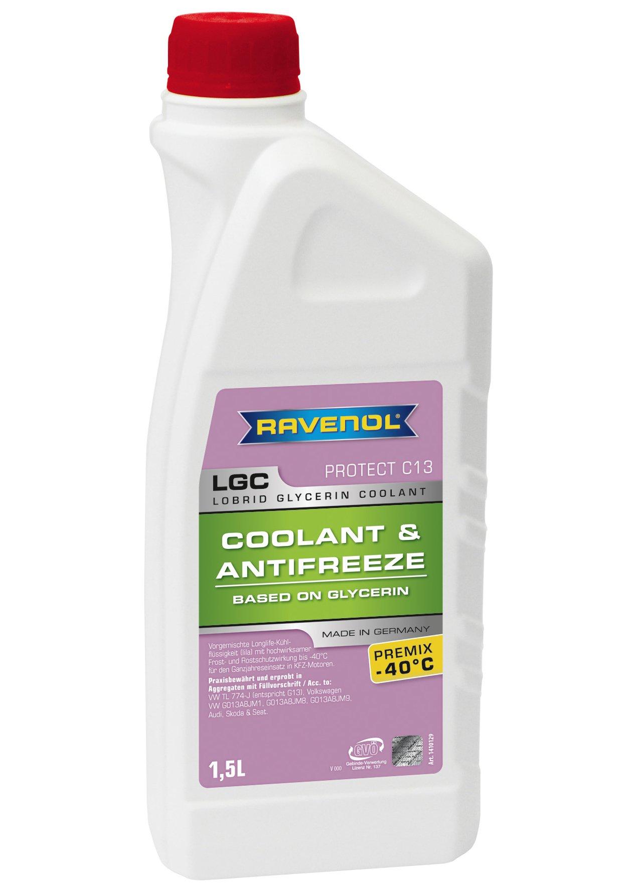 RAVENOL J4D2002-1 Coolant Antifreeze - LGC C13 Premix VW TL 774-J (G13) (1.5 Liter)