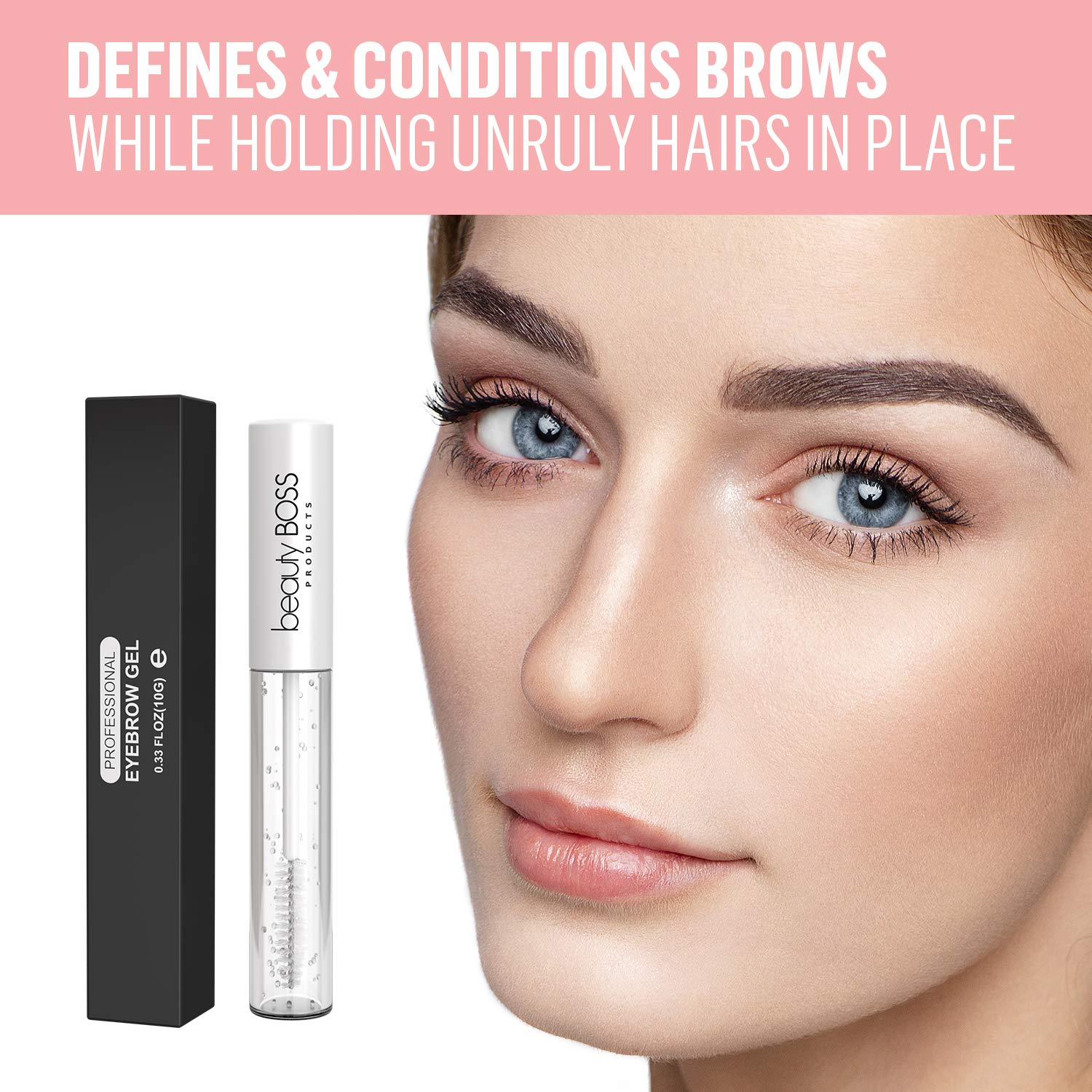 7bb2cbdba8c Amazon.com : Clear Eyebrow Gel Brow Mascara - Sculpting Clear Gel for  Glossier Brows - Natural Liquid Browgel Made in USA : Beauty