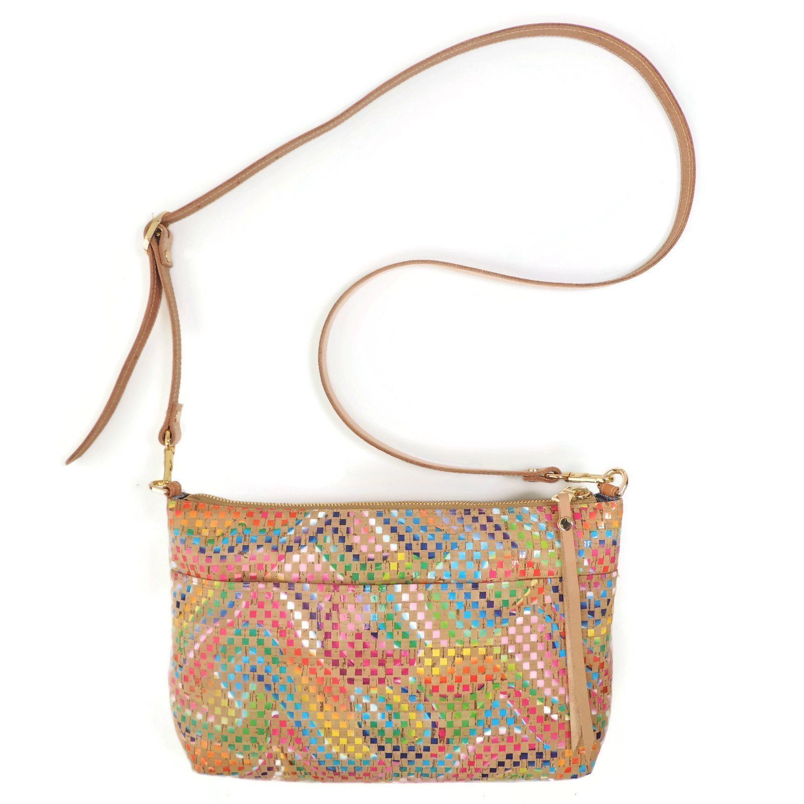 Cork Crossbody Purse with Adjustable Leather Strap and Pocket by Spicer Bags