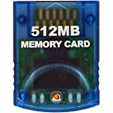 HDE GameCube Memory Card 512MB (8192 Blocks) for Nintendo GameCube or Wii (Clear)