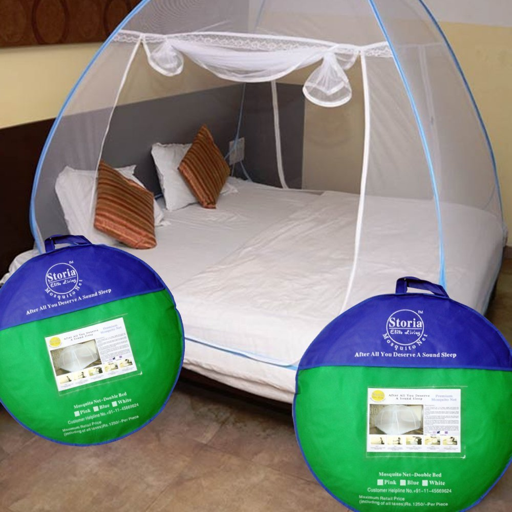 Storia Elite Living Mosquito Net 200*200*145 Cms, Can Easily Accommodate Bed From 5'X6' To 6.5'X6.5' product image