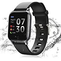 24HOCL Smart Watch Fitness Tracker with Temperature Measurement Heart Rate Monitor 1.3 Inch Single Touch Screen, IP68…