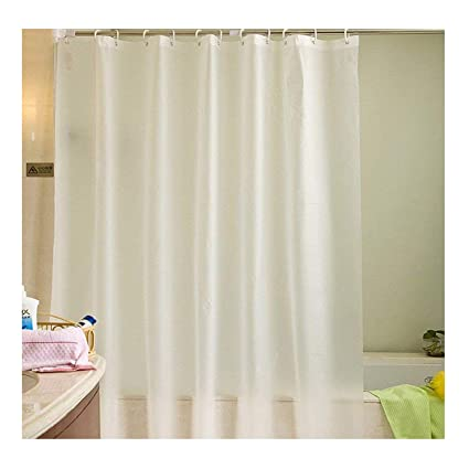 Uforme Contemporary Extra Long Shower Curtain Waterproof And Mildew Resistant All Color Vinyl Bath
