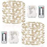 Amazon Price History for:GDEALER 2 Pack String Lights Fairy Lights Battery Operated