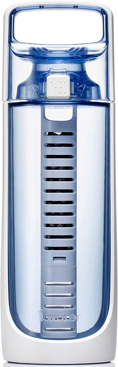 i-water Classic Portable 600 Alkaline Hydrogen Ionizer Bottle [600 ml/Blue]: Sports & Outdoors