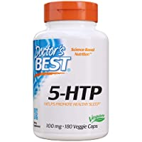 Doctor's Best 5-HTP, Promotes Healthy Sleep, Mood Support, Calm & Relaxation, Non-GMO...