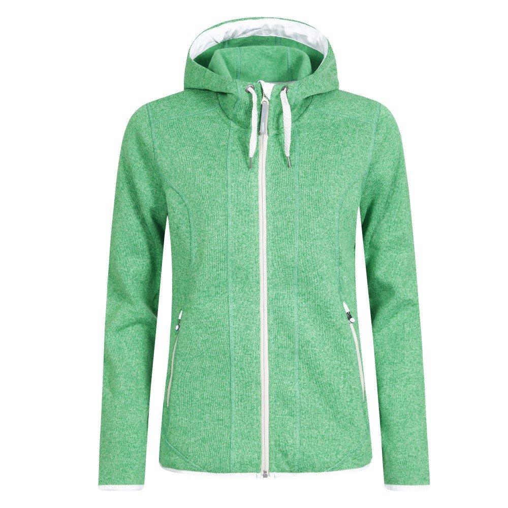 Icepeak Lori Fleece Strickjacke für Damen mit Kapuze Farbe:Grün Damen Größen:48