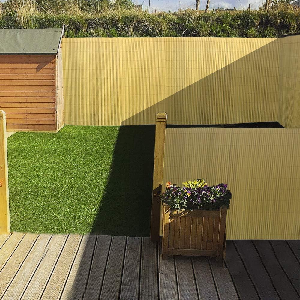 Protecci/ón de privacidad de PVC protecci/ón contra el Viento en Jardines Aufun Estera Protectora de PVC Balcones y terrazas