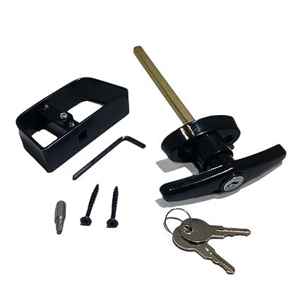 Shed Door T Handle Lock Kit   Includes 2 Keys, 2 Screws, Square