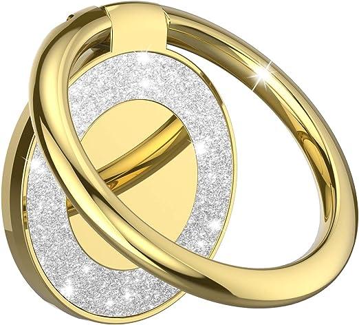Yellow Glitter Ring Holder