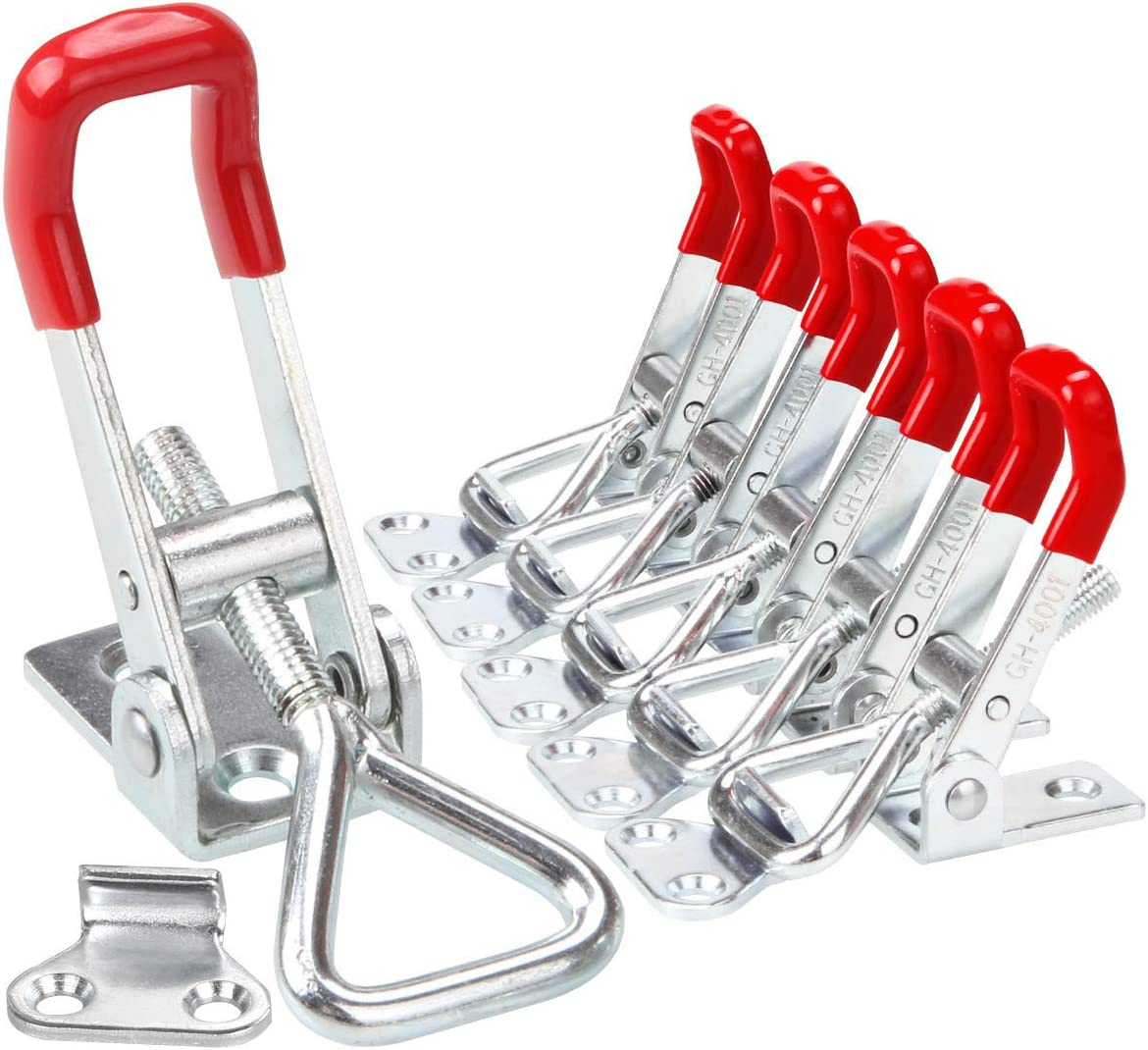 HONJIE 4001 150Kg 330Pound Latch-Action Toggle Clamp with Triangle Shaped Lever-5pcs