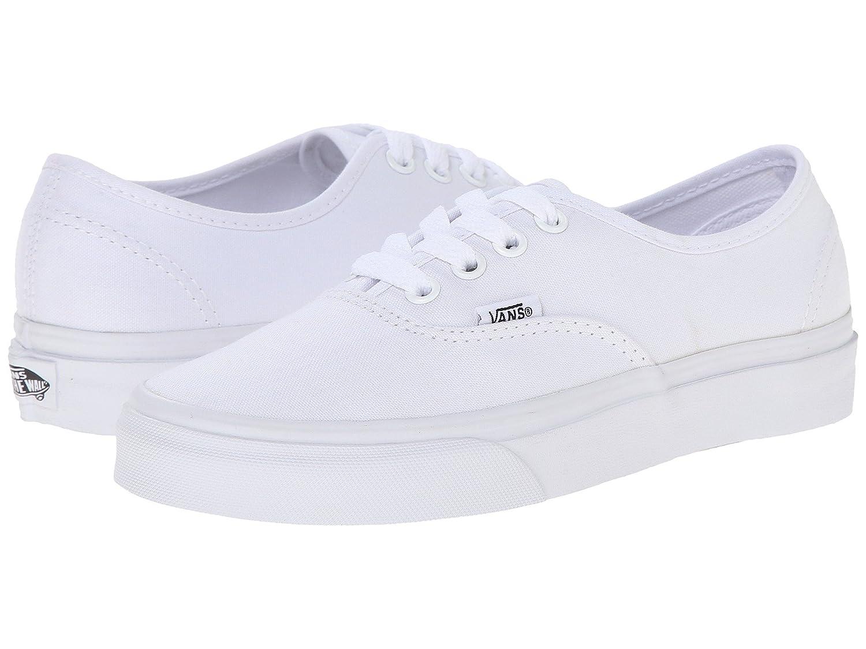VANS Unisex Authentic Black Canvas VN000EE3BLK Skate Shoe B01MYDE4U2 8 B(M) US Women / 6.5 D(M) US Men|True White