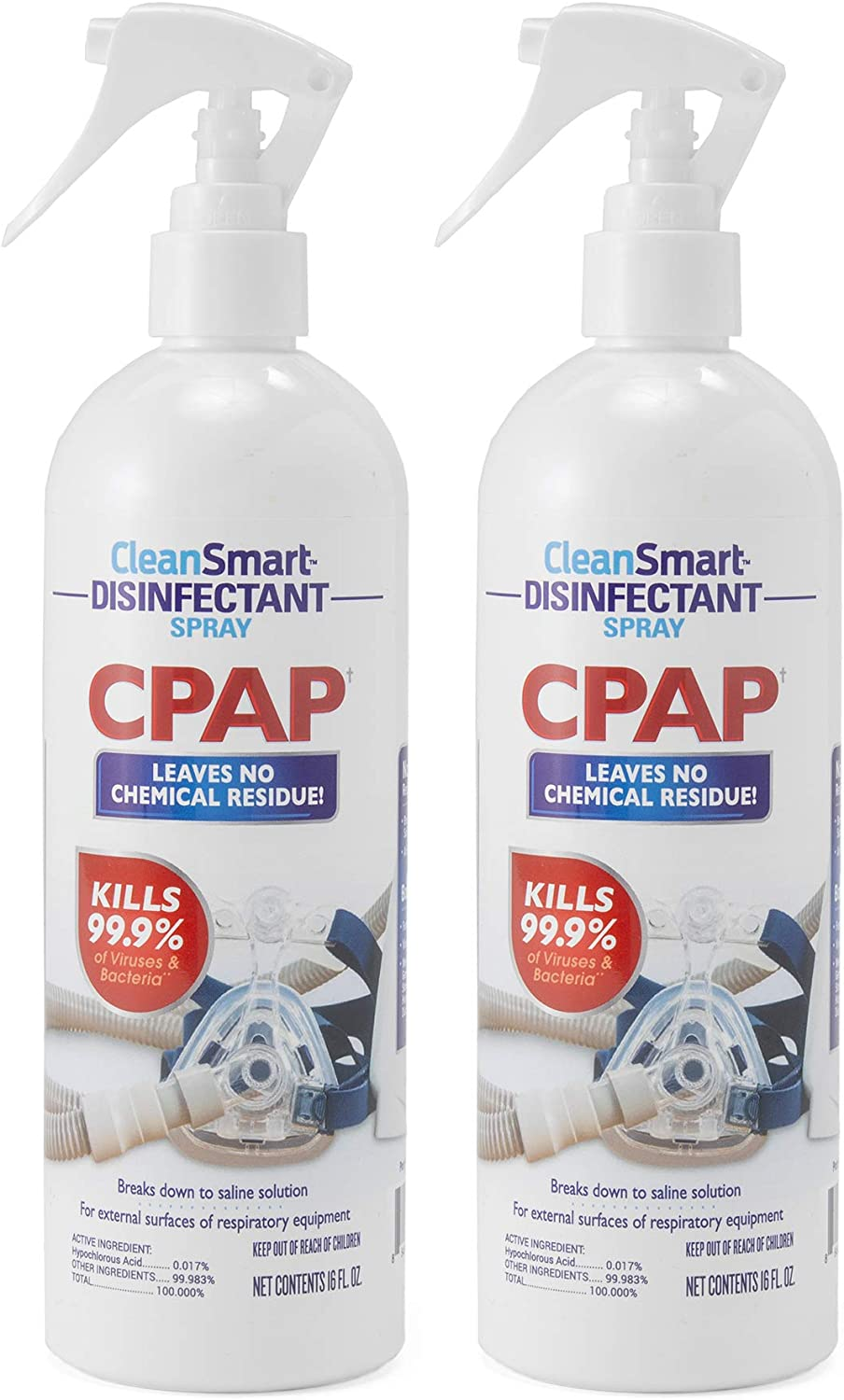 CleanSmart CPAP Disinfectant Spray, 16 oz (Pack of 2)