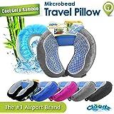 Cloudz Cool Gel & Bamboo Microbead Travel Pillow - Grey