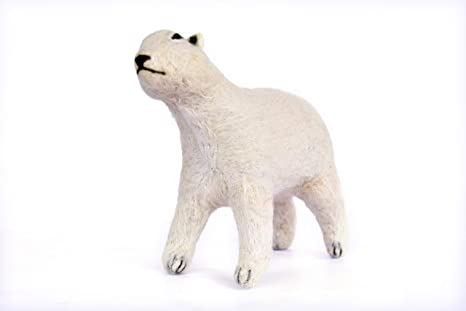 Hand Made Showpiece Felt Polar Bear Soft Plush Toy