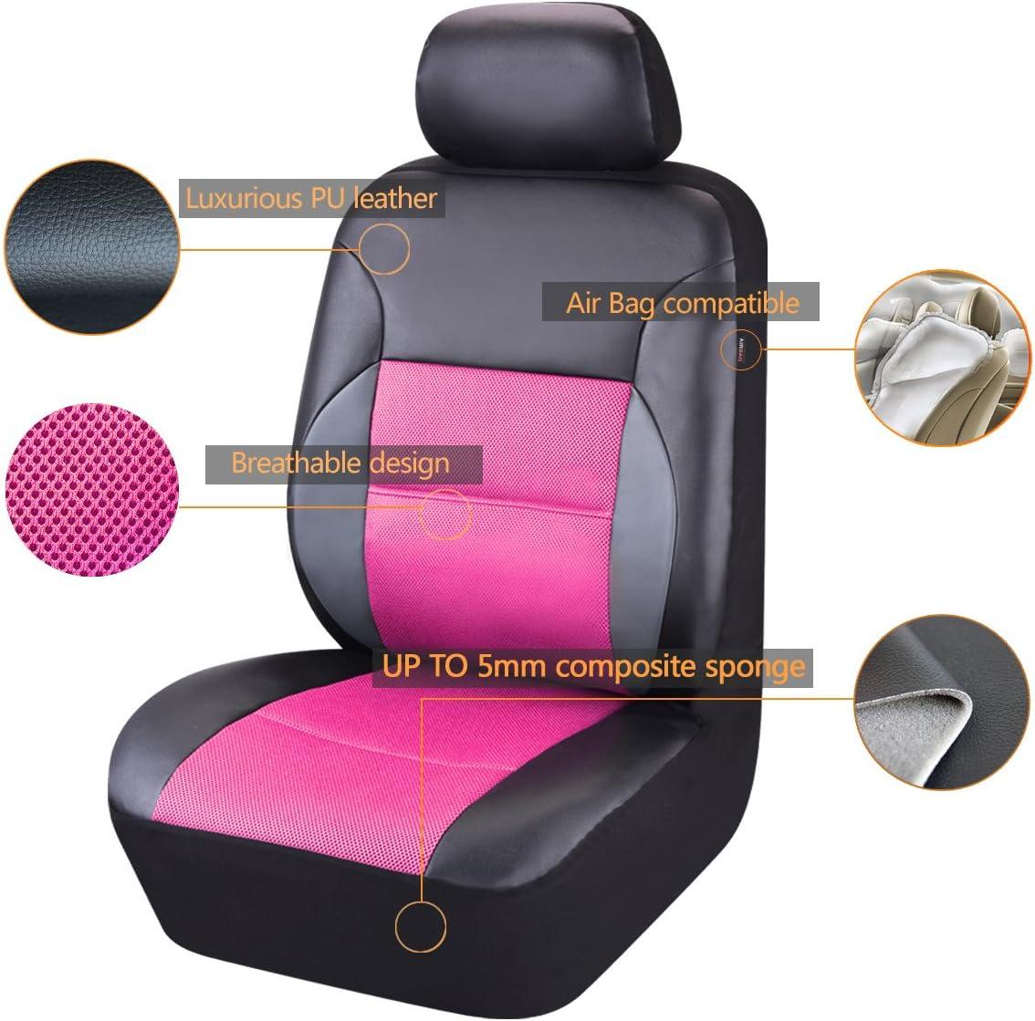 Auto pass/ con 5/mm composito spugna all interno /11PCS Luxurous PU Automotive universale coprisedili set package-universal Fit per veicoli airbag compatibile...