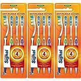 Signal brosse à dents 4 actions souple Lot de 3 x 4 brosses à dents
