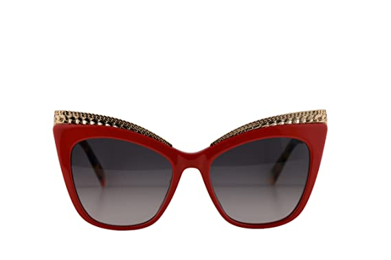 9e48788b14f0 Image Unavailable. Image not available for. Color: Moschino MOS009/S  Sunglasses Red w/Dark Grey Gradient Lens 52mm C9A9O MOS 009S