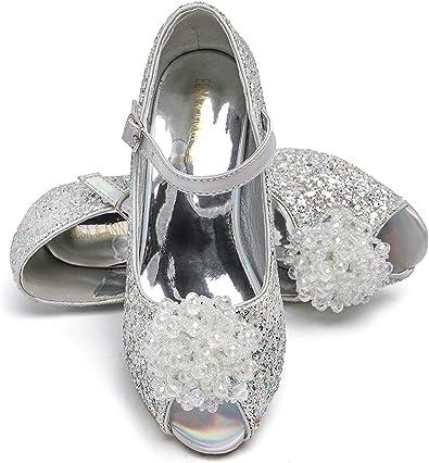 Sandalias de fiesta para ni/ñas ELSA /& ANNA UK1stChoice-Zone dise/ño de reina de nieve