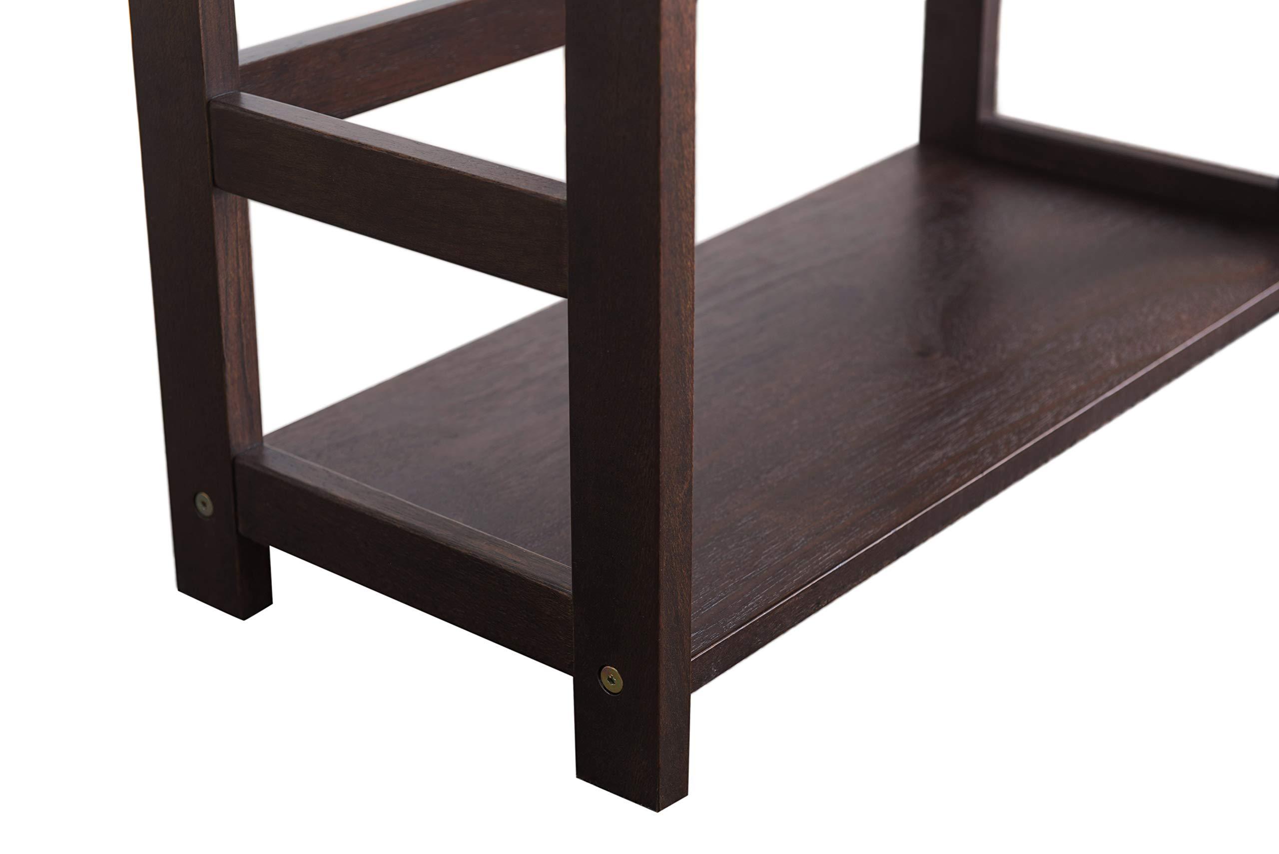 2L Lifestyle Hyder Everyday Basic Bookshelf Storage Rack Wood Shelf, Small, Brown by 2L Lifestyle (Image #7)