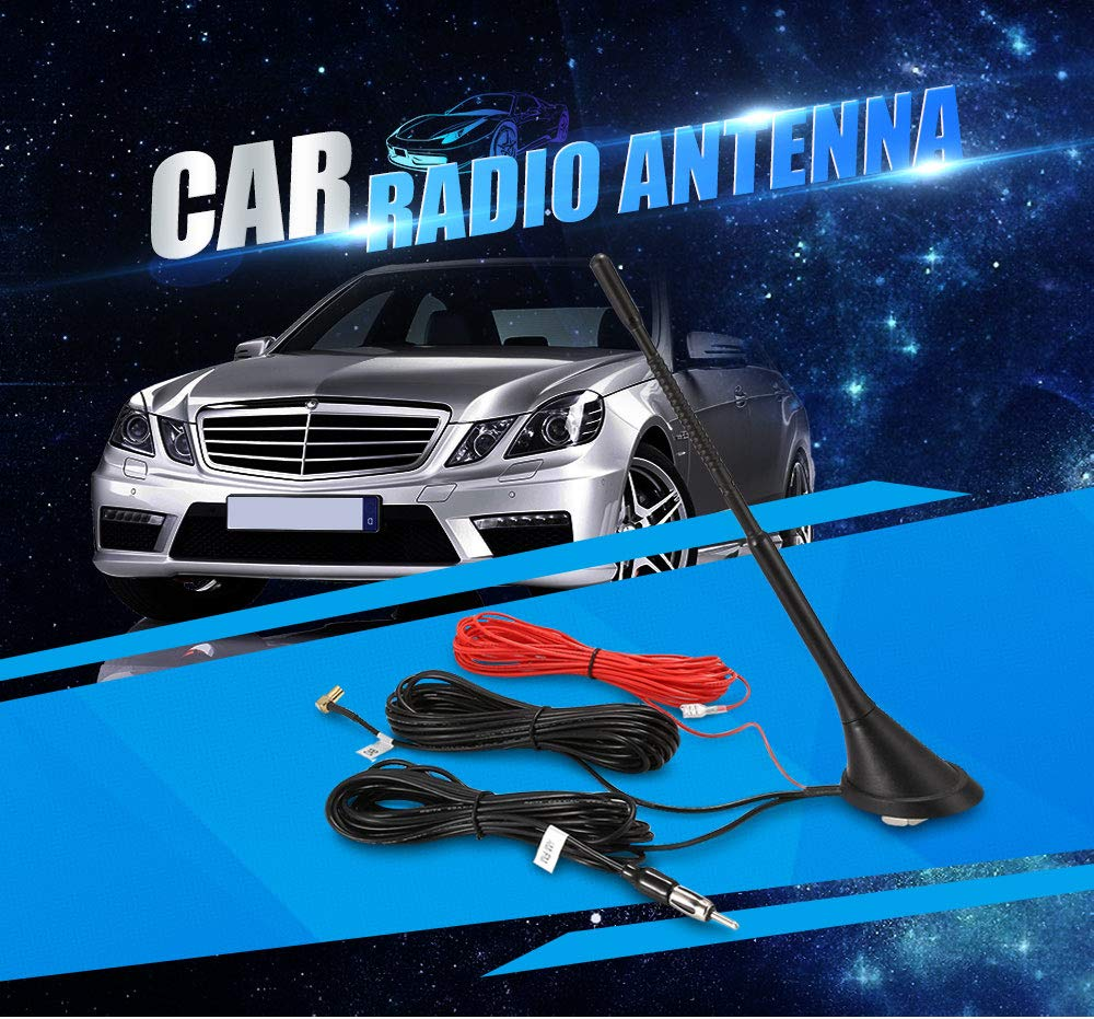AUTVAN DFB Car Electronics Accessories Antennas 001 Car Radio Antenna with AM/FM/DAB Adapter Cable SMB Connector New