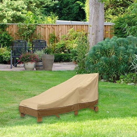 Corwar Beige Chaise Lounge Cover Recliner Cover Accesorios para terraza Jardín Patio vividly: Amazon.es: Hogar