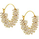 Royal Bling Bollywood Stylish Traditional Indian Jewelry Hoop Earrings for Women