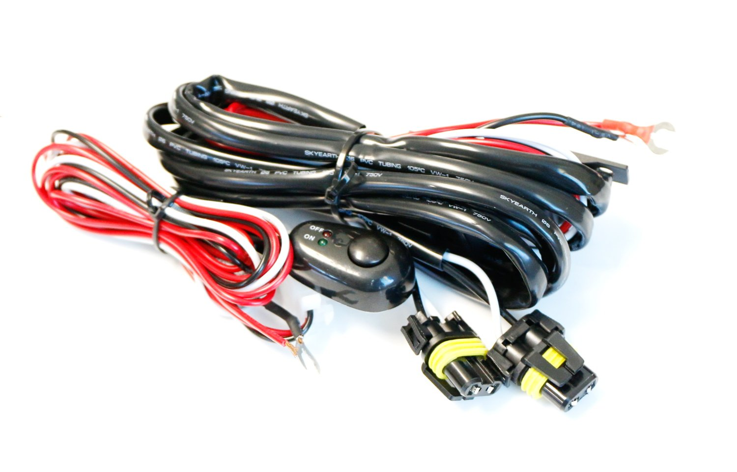 Ijdmtoy 1 9005 9006 H10 Relay Harness Wire Kit With 1996 Honda Accord Wiring Drivers Led Light On Off Switch For Aftermarket Fog Lights Driving Hid Conversion