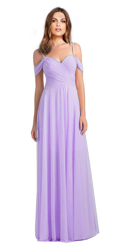 Lavender VaniaDress Women Off The Shoulder Long Formal Dress Prom Gowns V060LF