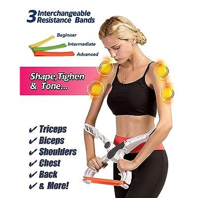 Exerciseur de bras supérieur, équipement d'entraînement des bras, entraînement des bras, bras de tonalité et de la poitrine 3 Système de bande de résistance, bras de merveille, p