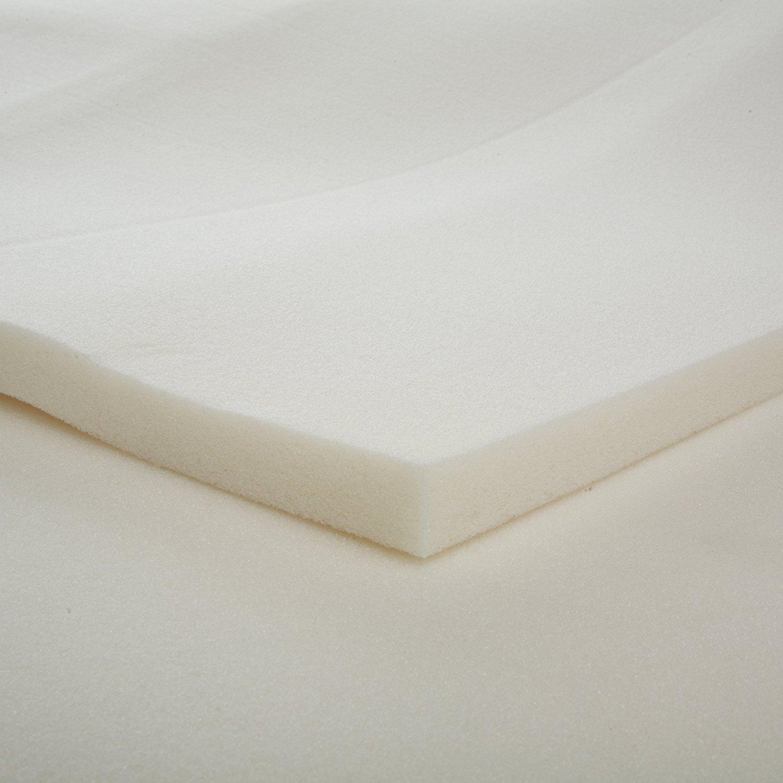 1-Inch Slab Memory Foam Mattress Topper, Twin - By Dream Solutions USA- Great for Backache, Mattress Repair, Back Comfort