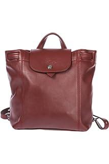 Longchamp womens leather rucksack backpack travel bordeaux