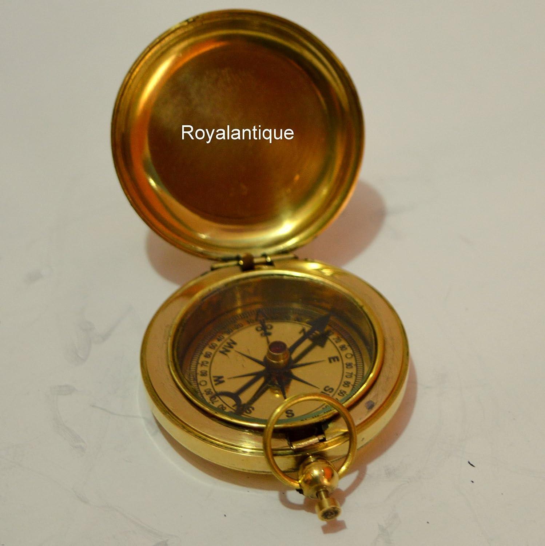 Maritimeアンティークソリッド真鍮ハンドメイド押しボタン2