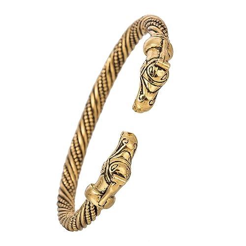 Skyrim Handmade Pagan Viking Dragon Bracelets Bangles for Man and Women