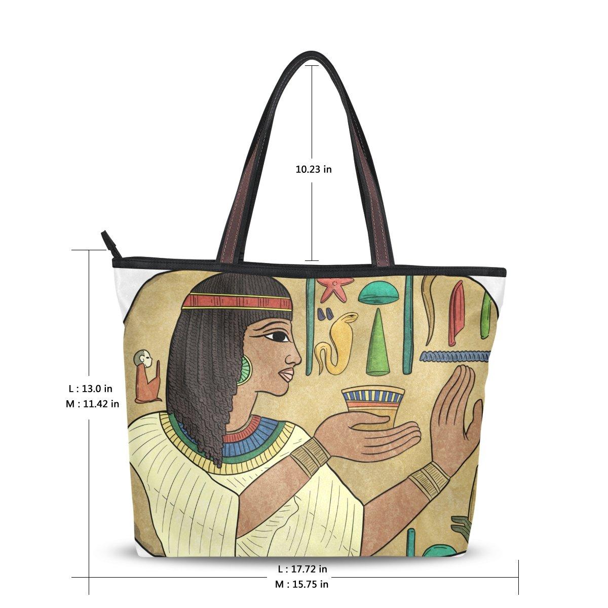 2b4c59dd0d04 DEYYA Women Large Tote Bag Vintage Ancient Egyptian Shoulder ...