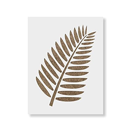 graphic relating to Printable Leaf Stencil referred to as Tropical Leaf Stencil Template - Reusable Stencil with Various Measurements Offered