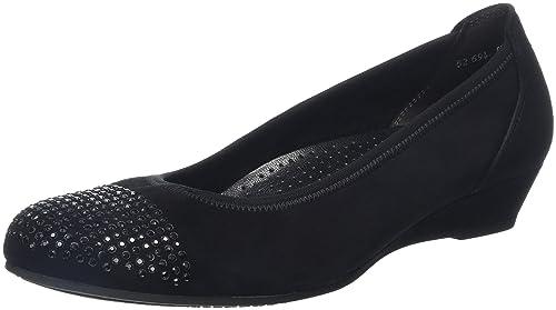 Donna Ballerine Nero Sport Shoes Gabor schwarz Comfort w7OIWp
