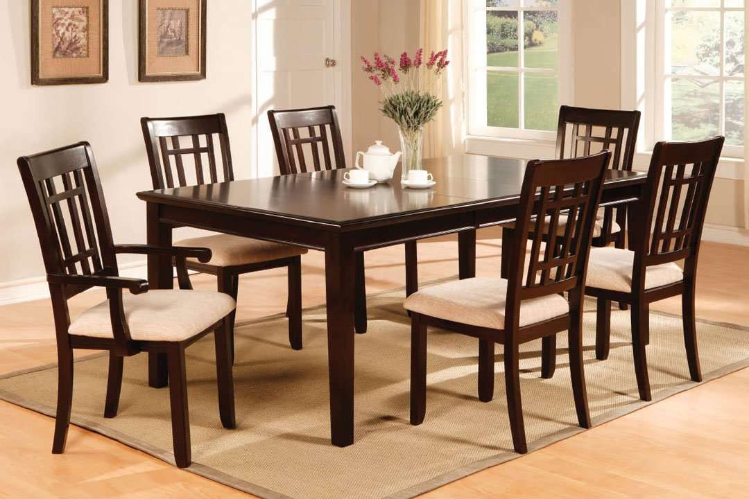 Amazon.com: Central Park Dining Kitchen Table In Dark Cherry Finish By  Furniture Of America: Kitchen U0026 Dining