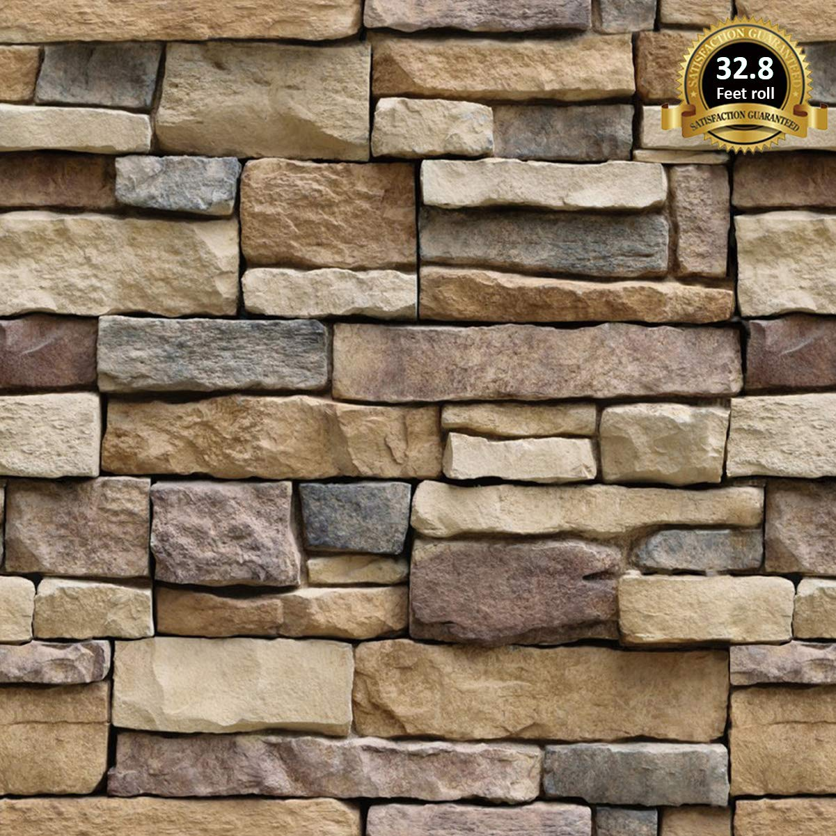 Easily Removable Wallpaper Brick Peel and Stick Wallpaper Lependor 17.71 X 118 Stone Peel and Stick Wallpaper Self Adhesive Wallpaper 17.71 X 9.8 ft