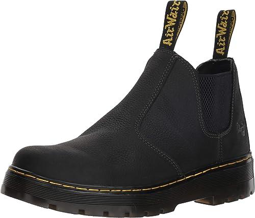 Dr.Martens Mens Hardy Black Leather Boots 43 EU: