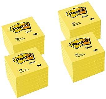 3M - Post-It® Pack Promocional 24 Blocs Notas 654 Amarillo 76X76 ...