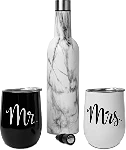 Mr and Mrs Gifts – Mr and Mrs Tumblers – Newlywed Gift – Wedding Gifts for Couple – Mr and Mrs Wine Glasses – Mr and Mrs Mugs – Mr and Mrs Tumbler Set – Mr and Mrs Wine Tumblers – Gifts for Newlyweds