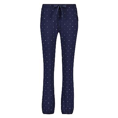 91082fabd33b74 Hunkemöller Damen Pyjamahose Jersey Blau 138067: Amazon.de: Bekleidung