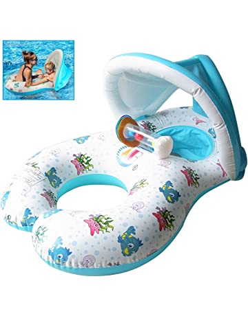 Flotador de Piscina para bebé,Flotadores Hinchables Para dos personas (Padres e hijos)