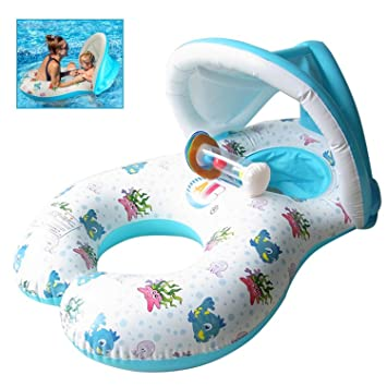 Flotador de Piscina para bebé,Flotadores Hinchables Para dos ...