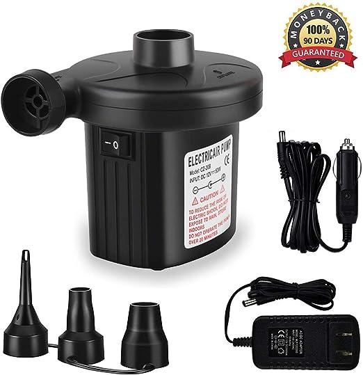 Dcolor Bomba de aire para inflar 12V electrico acampa portable